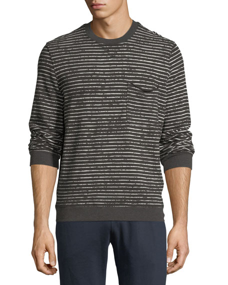 ATM Anthony Thomas Melillo Broken-Stripe Sweatshirt