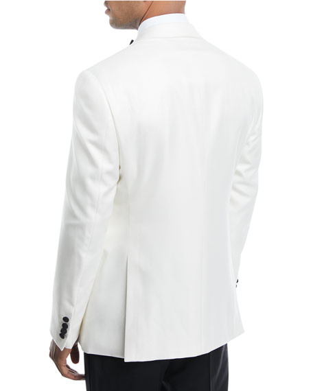 Satin-Lapel Textured Dinner Jacket