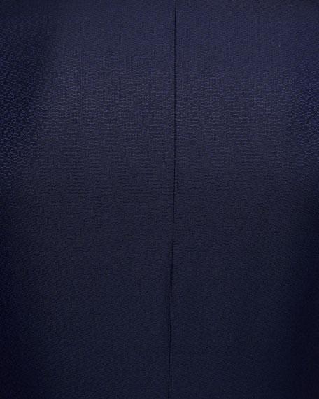 Textured Two-Piece Tuxedo with Satin Peak Lapel