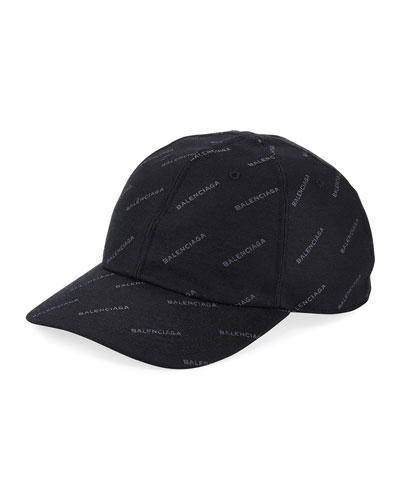 Logo Baseball Cap, Black