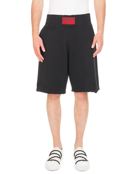 Givenchy Logo Boxing-Band Sweat Shorts