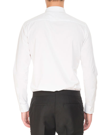 Tonal Star-Print Cotton Shirt