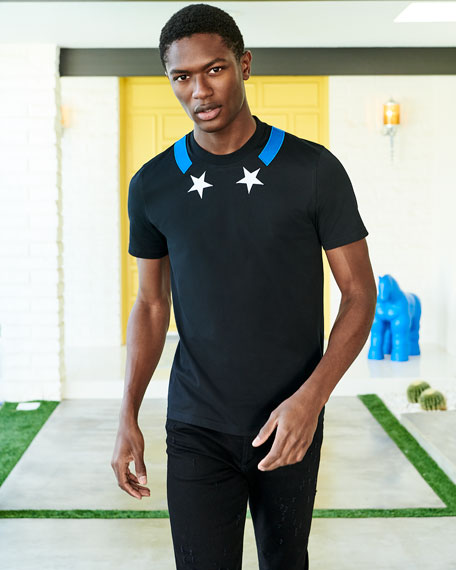 Star-Collar Cuban-Fit T-Shirt