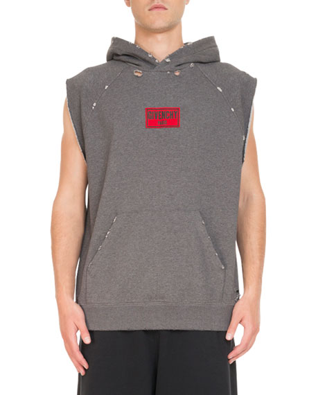 Givenchy Box-Logo Sleeveless Hoodie