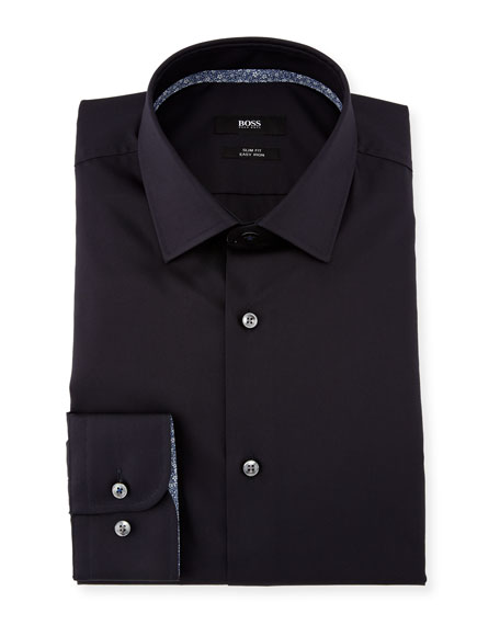 BOSS Jesse Contrast-Trim Solid Dress Shirt