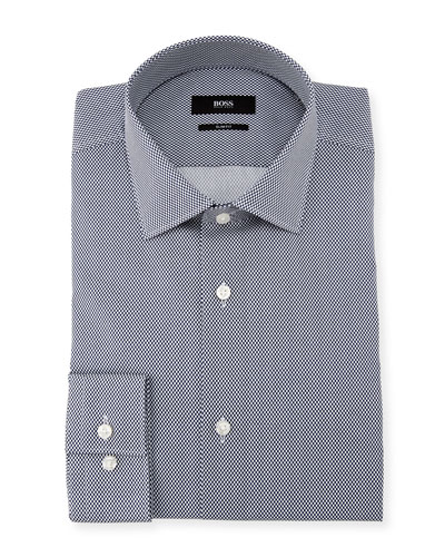 Dot-Print Dress Shirt