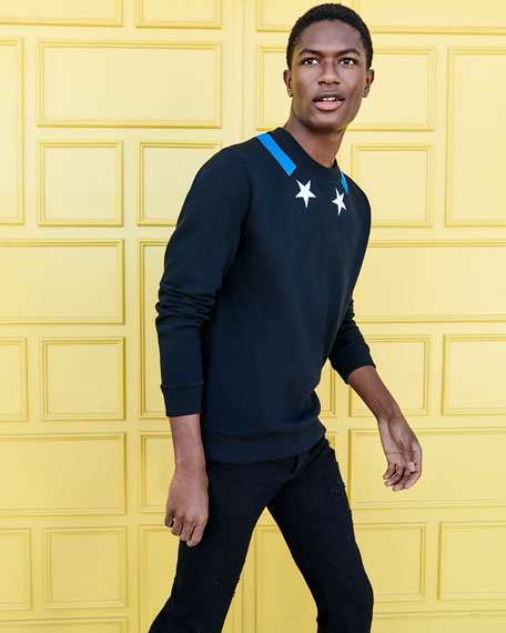 Star-Collar Cuban-Fit Sweatshirt