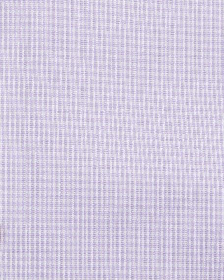 Jason Slim Fit Gingham Cotton-Blend Dress Shirt