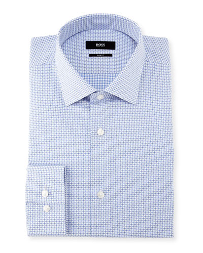 Mini-Check Dobby Dress Shirt