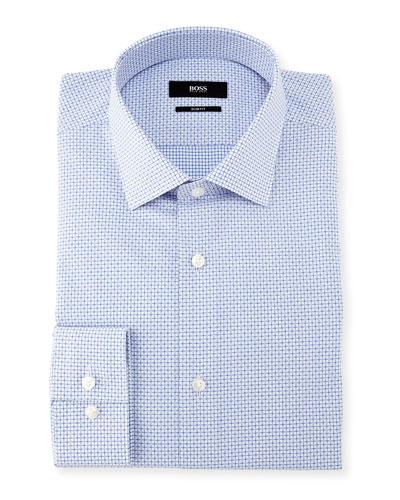 Mini-Check Dobby Dress Shirt