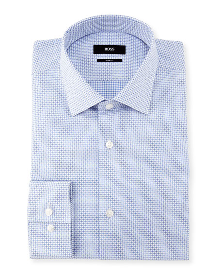Ismo Mini-Check Dobby Dress Shirt