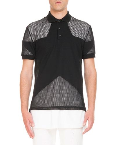Mesh Star Polo Shirt