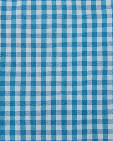 Jenno Slim Fit Gingham Dress Shirt, Aqua/Blue