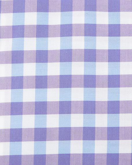 Jenno Gingham Dress Shirt, Purple