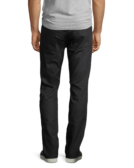 Men's Straight-Leg Airweft Denim Jeans, Soiree Black