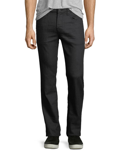 Straight-Leg Airweft Denim Jeans, Soiree Black