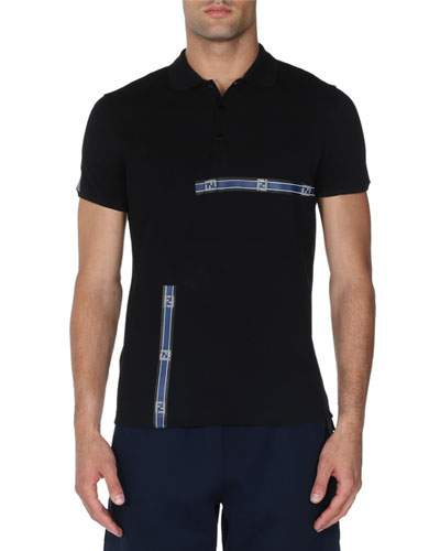 Forever Logo Stripe Polo Shirt