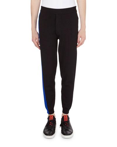 Colorblock Cycling Knit Pants