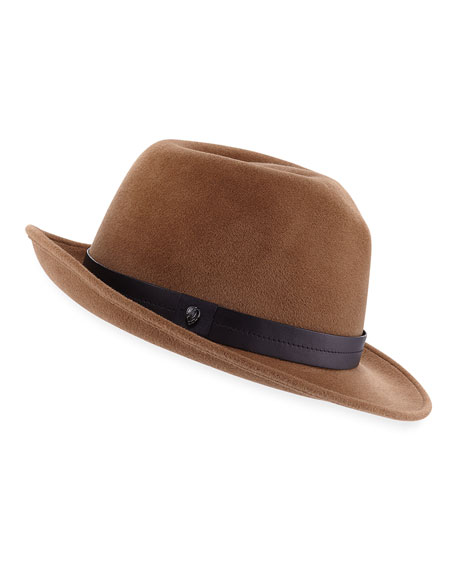 Kaminski Hats XY Hunt Rabbit-Felt Fedora Hat