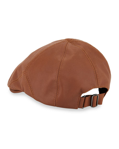 Wes Leather Driving Hat