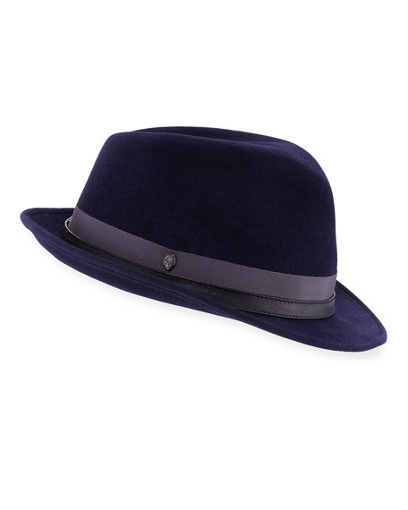 Eamon Rabbit-Felt Fedora Hat
