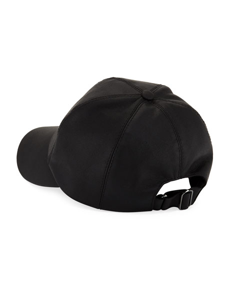 Silas Leather Baseball Cap