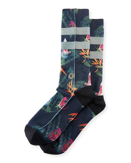 Fish Food Cotton-Blend Socks