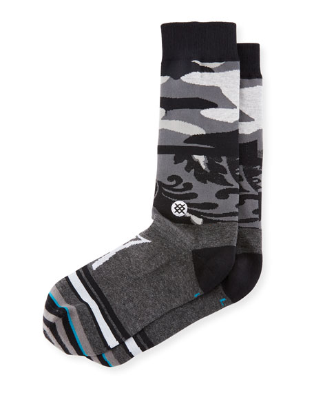 Stance Camouflage Panel Cotton-Blend Socks