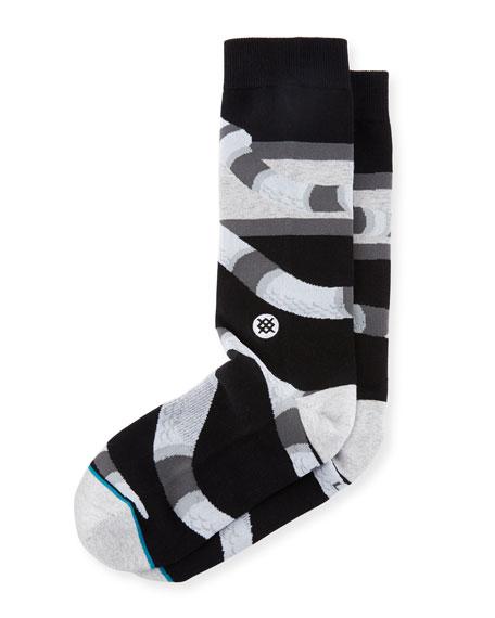 Serpent Cotton-Blend Socks