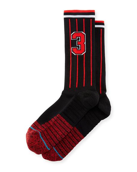 x Dwayne Wade Pinstriped Socks