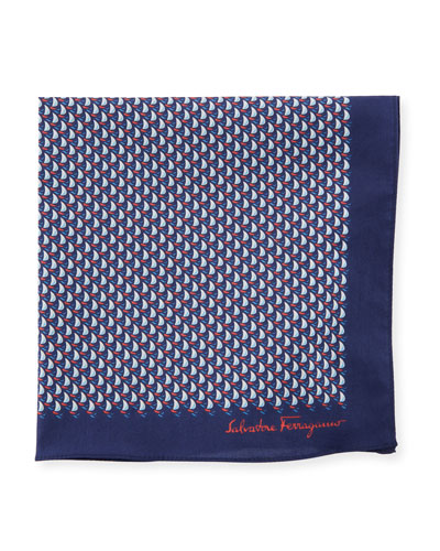 Sailboat Cotton Pocket Square