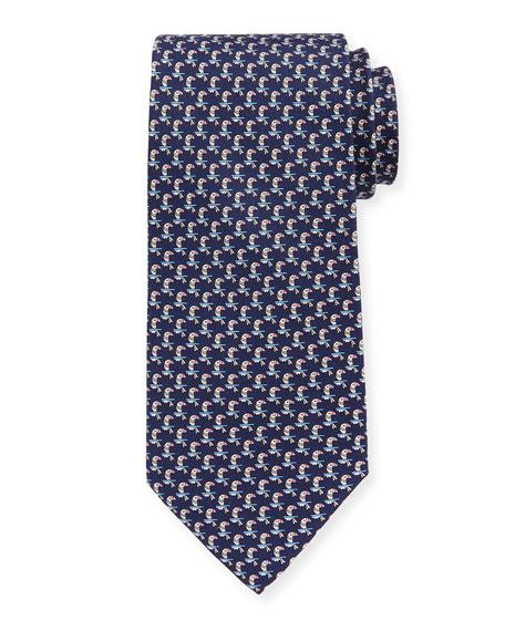 Parrots Silk Tie
