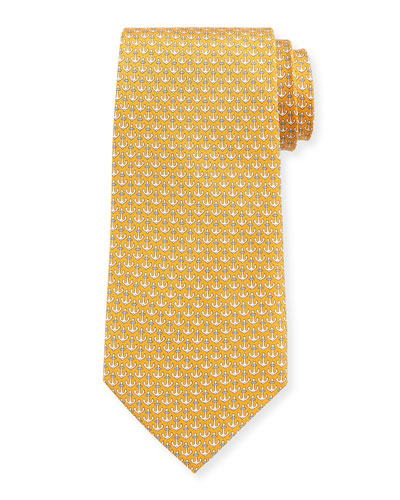 Anchors Silk Tie
