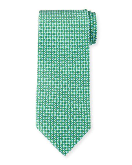 Chain Stripe Silk Tie
