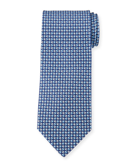 Salvatore Ferragamo Diamond Chain Silk Tie