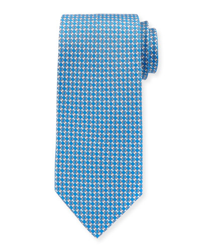 Interlocking-Chain Silk Tie