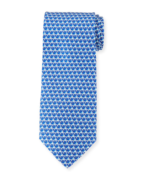 Salvatore Ferragamo Flamingo Silk Tie