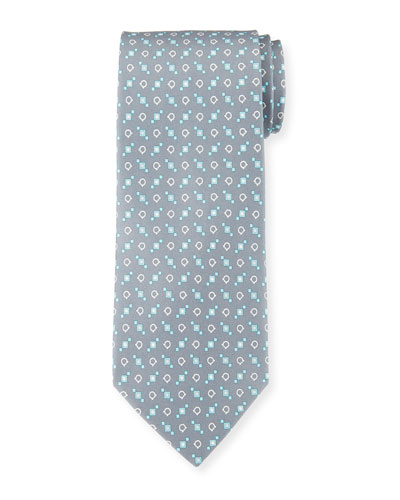 Gancini Box Silk Tie