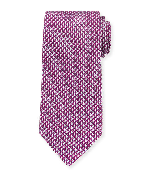 Sailboats Silk Tie, Pink