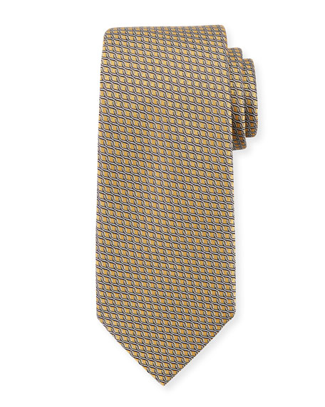Chain Link Silk Tie, Yellow