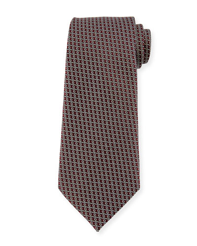 Chain Link Silk Tie