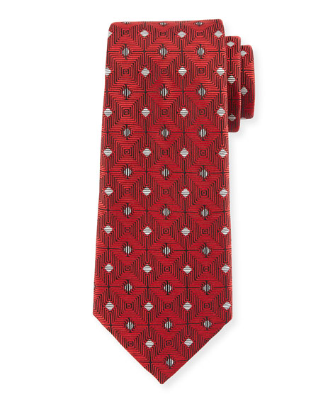 Large Diamond Silk Tie