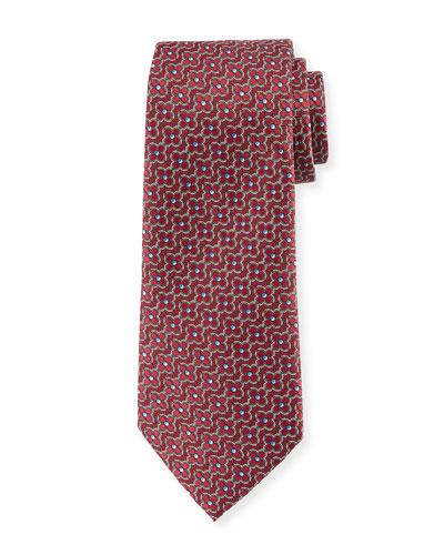 Connected Flower Silk Tie