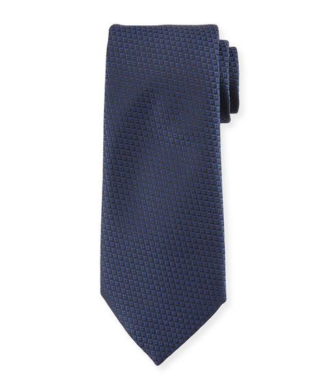 Diamond Weave Silk Tie