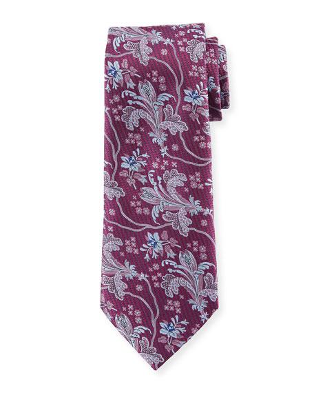 Ermenegildo Zegna Large Floral Silk Tie