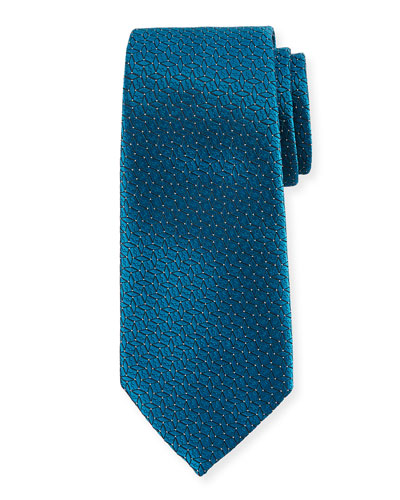 Connected Diamond Silk Tie, Blue