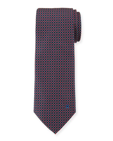 Woven Boxes Silk Tie