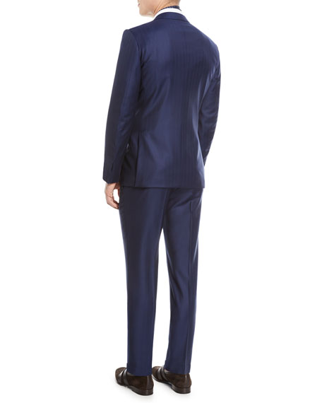 Twin Striped Trofeo® Wool Two-Piece Suit
