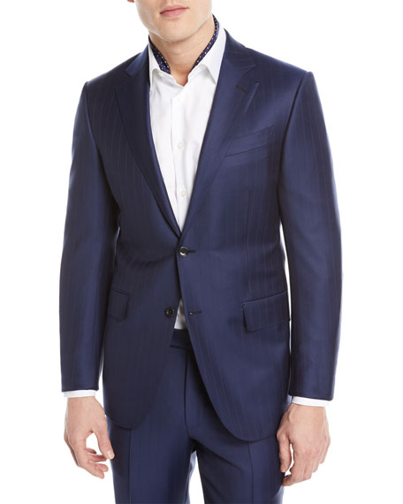 Ermenegildo Zegna Twin Striped Trofeo?? Wool Two-Piece Suit