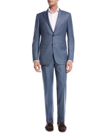 Sharkskin Wool Two-Piece Suit